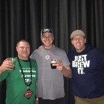 101 North Brewing Company Brewer Joel Johnson (middle) pictured with the winning brewers, Joe Monostori and Jerimiah Konen.